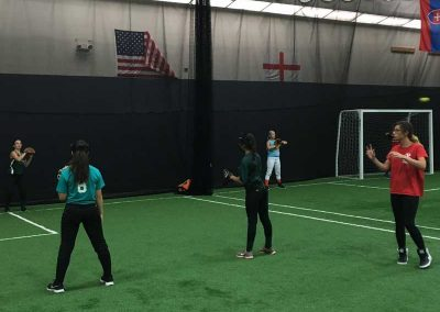 Coach Tina Working With 14U Softball At Maximum Sports Center in Ramsey