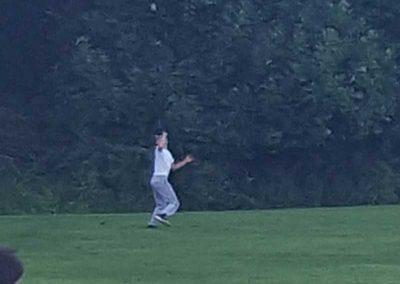 ITZ Player Settling Under A Ball In Left Field
