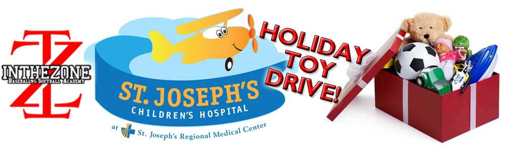 In The Zone Baseball & Softball Academy to Host Toy Drive For St. Joseph's Children's Hospital